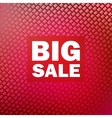 Big sale isolated over white background vector image