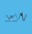 black sound wave symbol pulse music player vector image
