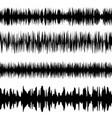 black sound waves set screen equalizer vector image