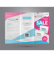 Booklet template for sale event vector image