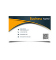 business card abstract orange curve background vec vector image