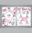 cards with cat breeds cats lovers club vector image vector image