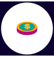 Casino chip computer symbol vector image vector image