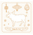 chinese new year of pig card money talismans and vector image