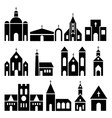 Church building icons basilica and chapel vector image