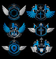 classy heraldic coat of arms collection of vector image vector image