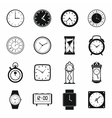 Clocks icons set simple style vector image vector image