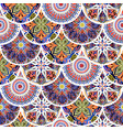 colorful floral seamless pattern from circles with vector image vector image