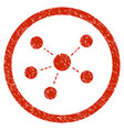 connections rounded grainy icon vector image vector image