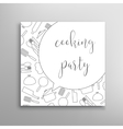 Cooking party invitation Culinary school vector image
