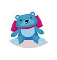 cute blue teddy bear toy cartoon vector image vector image