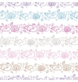 Cute smiling snails stripes seamless pattern vector image vector image