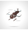 Delivery copter flat icon vector image vector image