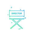 director icon design vector image vector image