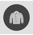 dog trainig jacket icon vector image vector image