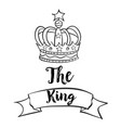 doodle of king crown collection vector image vector image