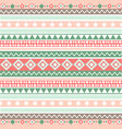 ethnic striped seamless pattern geometric design vector image