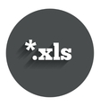 Excel file document icon Download xls button vector image vector image