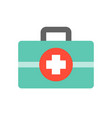 first aid kit medical and hospital related flat vector image vector image