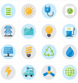 Flat Icons For Environment Icons and Ecology Icons vector image