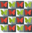 Flat style seamless pattern with butterflies vector image vector image