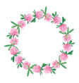 floral wreath isolated on white vector image vector image
