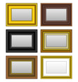 frame picture photo mirror a set of picture and vector image vector image