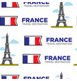 france traveling eiffel tower and french flag vector image vector image