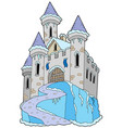 frozen castle vector image