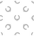 gemstone fashion necklace pattern seamless vector image vector image