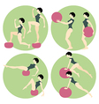 Girl doing exercises vector image vector image