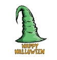 green witch hat isolated on white vector image