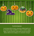 greeting halloween party abstract poster vector image vector image