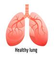 healthy lung icon cartoon style vector image vector image