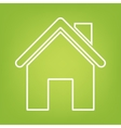 Home line icon on green background vector image vector image