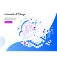 internet things isometric concept modern flat vector image