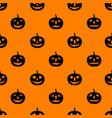 jack-o-lanterns seamless pattern vector image