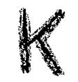 K Brushed vector image