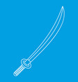 katana icon outline style vector image vector image