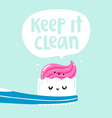 Keep it clean vector image vector image