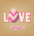 love with easter eggs vector image vector image