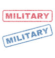military textile stamps vector image vector image