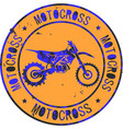 motocross club icon stamp print design logo vector image vector image