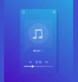 music streaming player interface mobile app ui vector image