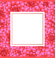 pink dahlia banner card style 2 vector image vector image