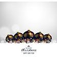 premium christmas balls on white background design vector image vector image