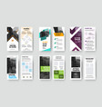 presentation dl flyer template with geometric vector image vector image
