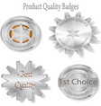 product quality badges and emblems vector image vector image