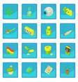 rastafarian icon blue app vector image vector image