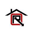 real estate letter r vector image
